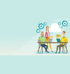 people working in office vector image