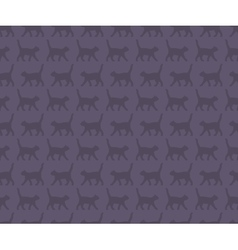 Seamless pattern with the cats vector image