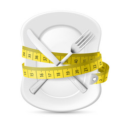 diet concept vector image vector image