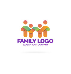 family logo consisting of simple figures vector image vector image