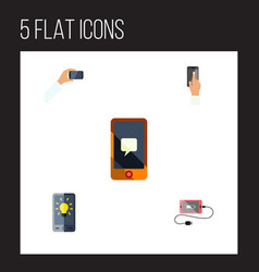 Flat icon phone set of screen smartphone vector