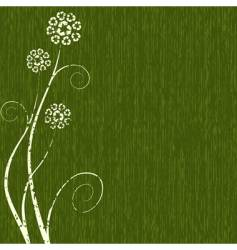 recycling flower vector image