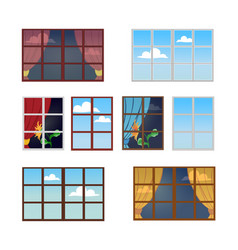 reflection of a sunny day in the window vector image vector image