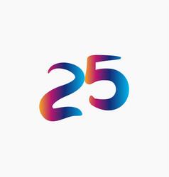 25 years anniversary celebration template design vector