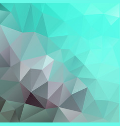 Abstract irregular polygon square background mint vector