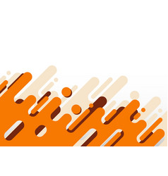 Abstract modern orange rounded diagonal lines vector