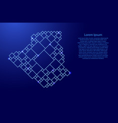 Algeria map from blue pattern from a grid of vector