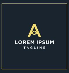 Ao monogram logo vector