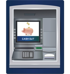 atm bank vector image