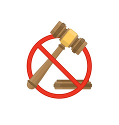 Auction hammer prohibited vector