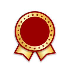 Award ribbon isolated gold red design medal vector