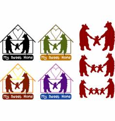 bear family vector image vector image
