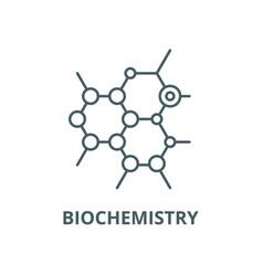 Biochemistry line icon linear concept vector