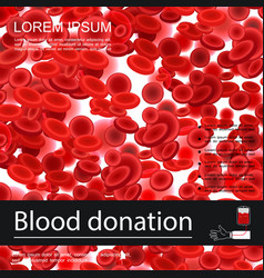 blood donation medical template vector image