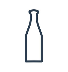 Bottle icon on white background vector