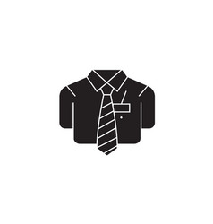 Bsuiness casual shirt black concept icon vector