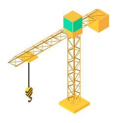 building crane icon isometric 3d style vector image