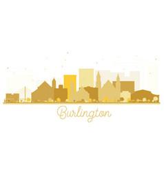 burlington iowa skyline golden silhouette vector image