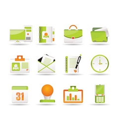 Business and office icons icons vector