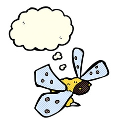 cartoon bee with thought bubble vector image