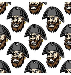 Cartoon pirate seamless pattern background vector image