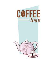 Coffee time concept cartoon vector