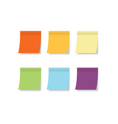 color sticky notes with post note stickers vector image