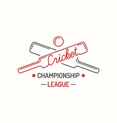 Concept logo cricket vector