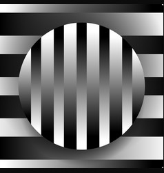 Contrasty black and white with circle over vector