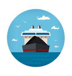 Dry cargo ship icon vector