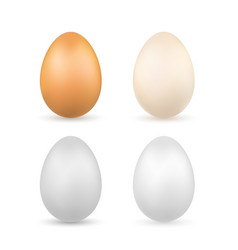 easter egg 3d icons realistic bright and pastel vector image