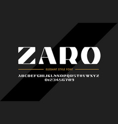 elegant style font design alphabet letters and vector image
