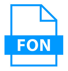 File name extension fon type vector