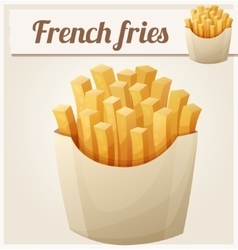 French fries Detailed icon vector