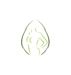 fresh woman silhouette for medical spa logo vector image