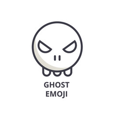 Ghost emoji line icon sign vector