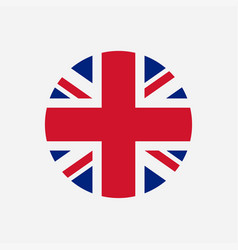 Great britain flag union jack round logo vector