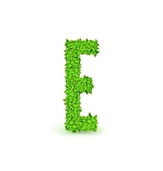 Green Leaves font E vector image
