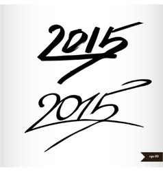 Happy New Year Handwritten calligraphic watercolor vector image