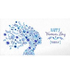 Happy Women day vintage flower vector