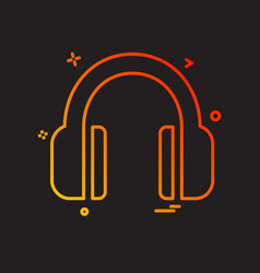 headphone icon design vector image