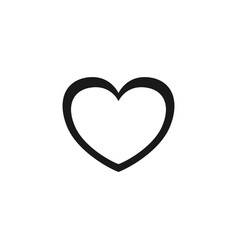 heart icon line outline love symbol image vector image