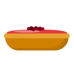 holiday cake icon flat style vector image