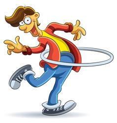 Hula Hoop Man vector