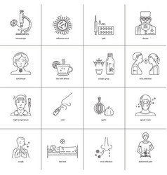 Icons prevention diseases vector