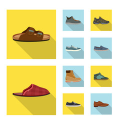 Isolated object of shoe and footwear icon vector