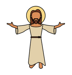 jesus christ catholic image vector image