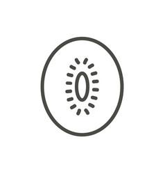 kiwi icon outline fruit line kiwi symbol vector image
