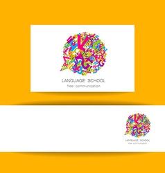 Language school free communication vector