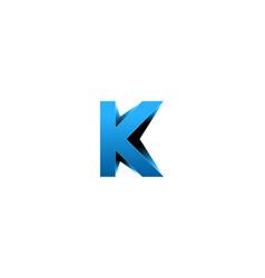 letter k logo icon design vector image